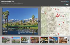The map tour template lets people explore an area by stepping through a sequence of large photos with captions. Story Map Template, Palm Springs Map, Make Your Own Map, Desert Resort, Desert Environment, Free Stories, Shed Storage, Large Photos, Storytelling