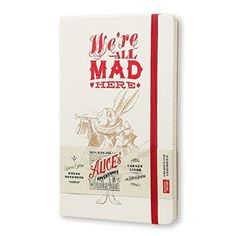Moleskine Notizbuch Alice im Wunderland, A5, Liniert, Hard Cover, weiß