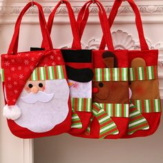 Christmas Bag Decorations For Home Snowman Reindeer Santa Claus Sack Gift Bags