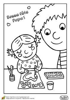 La petite fille fait de la peinture pour la Fête de son Papa, un dessin à colorier. Mamma, Comics, Anastasia, Fictional Characters, First Mothers Day Gifts, Gift Ideas, Father's Day Diy, Cartoons, Fantasy Characters