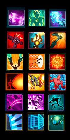 Wildstar Game Ui Design, Icon Design, Elemental Powers, 2d Game Art, Best Hero, Game Props, Game Interface, Mobile Art, Stars
