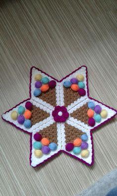 Crochet Potholder Patterns, Farmhouse Rugs, Tejidos, Crochet Slippers, Candy, Tricot