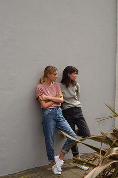 DENIM DAZED WITH UO Joanna & Sarah Halpin shot by Drew Wheeler