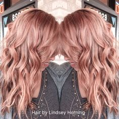 Rose gold hair color...
