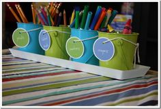 supplies - I need to add labels to my containers with a picture so my son can easily put things back.