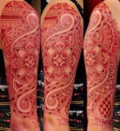 red dotwork tattoo - Google Search