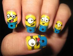 25-Awesome-Minion-Nail-Art-Designs-Ideas-Trends-Stickers-2015-12