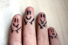Finger people doodle: cute !!!