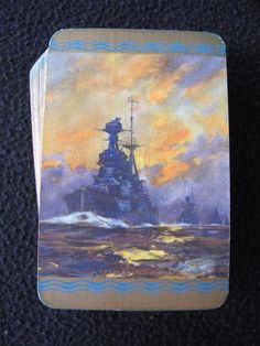 "VINTAGE 1930's GOODALL PACK OF PLAYING CARDS - BATTLESHIPS - ""THE BATTLE FLEET"""