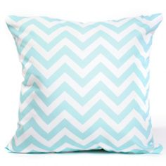 Aqua Chevron Cushion Cover