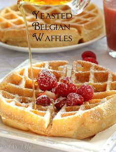 Crispy Yeasted Belgian Waffles Irresistible!!  and perfect for #backtoschool @livlifetoo