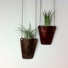 DIY Hanging Planters / DIY Project: Leather Plant Hanger - CotCozy