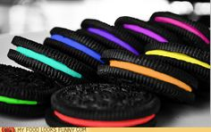OMG, colorful oreos? What are you doing to my food! lol not really, but I love me some oreo cookies if this is what these are. Looks good.