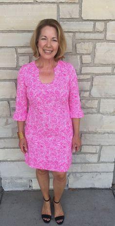Katherine Way Naples Dress in Roundabout Geranium