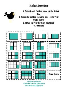 Here are some great resources for a fraction bingo game.