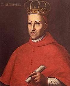 """SM o Rei D  Henrique I ou II de Portugal e dos Algarves """"O Casto""""(1512-1580).  Casa Real: Avis Editorial: Real Lidador Portugal Autor: Rui Miguel"""