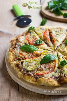 Домашняя пицца с сыром, помидорами и болгарским перцем. Рецепт с фото и ВИДЕО | Добрые вегетарианские рецепты с фото и видео