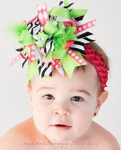 This website has such cute homemade bows and outfits for little girls!