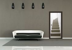 Faux doorway with staircase @ Touch of Modern Dc Fix, Door Murals, Bedroom Doors, Cool Walls, Room Set, Boy Room, Home Goods, Modern Design, New Homes