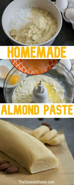 Homemade Almond Paste - sub swerve for keto Dutch Recipes, Sweet Recipes, Baking Recipes, Cookie Recipes, Dessert Recipes, Amish Recipes, Just Desserts, Delicious Desserts, Yummy Food