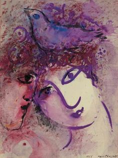 (Belarus) Two Women by Marc Chagall Belarusian later French. between Surrealism & NeoPrivitivism. Marc Chagall, Artist Chagall, Chagall Paintings, Paul Klee, Jewish Art, Kandinsky, Pablo Picasso, French Artists, Famous Artists