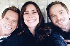 Kevin Bacon, Jessica Stroup, and Shawn Ashmore... I love Shawn he is adorable :-)