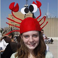 Lovely Red Lobster Crab Sea Animal Hat Home Party Costume Hat Adult Children Cap Funny Christmas Costumes, Cute Costumes, Christmas Humor, Red Christmas, Halloween Christmas, Costume Ideas, Hut Party, Crab Costume, Cute Caps