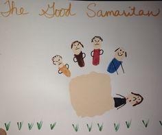 The Good Samaritan handprint craft