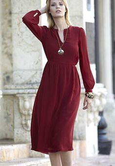 Robe longue bordeaux - Robes Automne-Hiver 2012-13