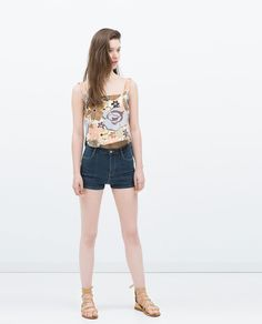 Image 1 of JACQUARD PATTERN TOP from Zara