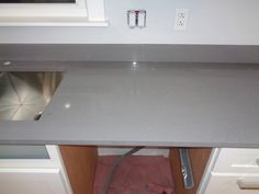 Crystal White - Steel Grey - Chicago IL    -  http://www.amfgranite.com/quartz-countertops-projects/crystal-white-steel-grey-chicago-il/