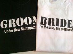 Bride and Groom Shirts Wedding Honeymoon T-Shirts Funny.