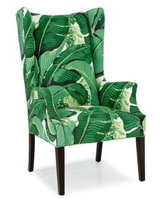 Chair in Brazilliance Palm Fabric
