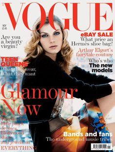 Angela Lindvall by Patrick Demarchelier Vogue UK November 2004