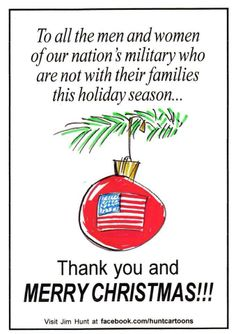 Merry Christmas and Thank You. Pray you all come home soon. Be safe.LA <3