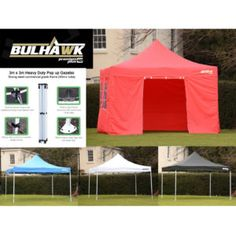 BULHAWK® LARGE HEAVY DUTY GAZEBO POP UP MARKET STALL TABLE TRADE COUNTER for 3X3