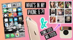 WHAT'S IN MY IPHONE 6? + COMO EDITO MIS FOTOS #Iphone6 #tumblr #gold #instagram #photos #fashion #selfie
