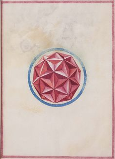 From an obscure 16th century anonymous paper manuscript containing sketches of geometric solids.