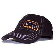 Airstream Stretch Fit Hat - Black/Orange