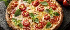 Photo about Italian Pizza Margherita with fresh tomatoes, mozzarella, basil and marjoram. Image of homemade, pizza, garlic - 43460353 Italian Chef, Italian Recipes, Rustic Italian, Italian Garden, Italian Cooking, Pizza Vegetal, Pizza Legume, Vegetarian Recipes, Deserts