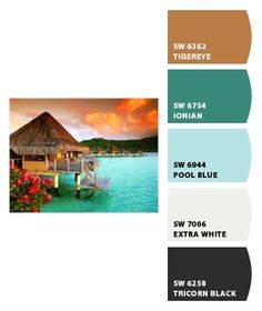 Tropical Sunset...color inspiration for her bedroom.