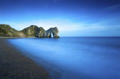 Nope! This tranquil setting is Durdle Door in Dorset.