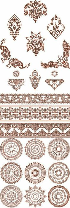 mehndi indische henna tattoo nahtlose muster design elemente stockvektor. Black Bedroom Furniture Sets. Home Design Ideas