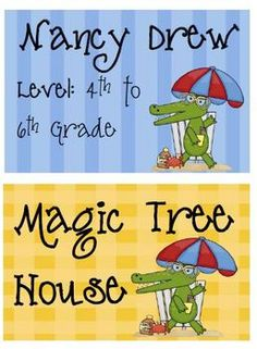 FREE Fern Smith's Gator Beach Labels for Your Library's Book Baskets!