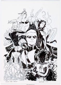 Sara Pichelli Infinity Variant Cover Original Art (Marvel, Used as the Retailer Incentive - Available at Sunday Internet Comics Auction. Sara Pichelli, Comic Books Art, Book Art, Comic Covers, Cover Art, Marvel Comics, Pin Up, Art Gallery, Original Art