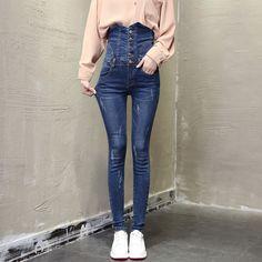 #130 Fashion Ladies Women Skinny Slim Stretch Push Up  Pencil Boot Cut Plus Size High Waist Jeans Female Woman Denim Pants  2017 #Affiliate
