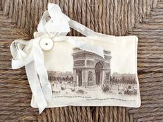 FREE SHIPPING! Beautiful Lavender Sachet Featuring Antique French Graphics (6) by sewmanyroses on Etsy
