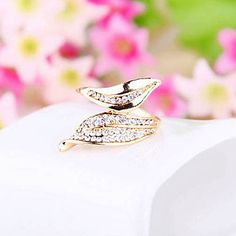 Japanese And Korean Jewelry Wholesale Branches Leaves Leaves Full Of Love Diamond Ring Ring – GBP £ 2.18