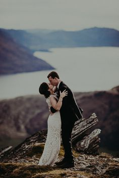 A gorgeous mountain top wedding!  Photo Credit: http://www.forgedinthenorth.com/. From http://www.100layercake.com/blog/2015/05/15/new-zealand-mountaintop-elopement/.