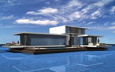 C3 A320/A360 HOUSEBOAT | Giuseppe Torrisi, Daniela Procopio Ocean Front Homes, Boat Interior, Floating House, Courtyard House, Yacht Design, Residential Architecture, Bungalow, Beach House, Villa